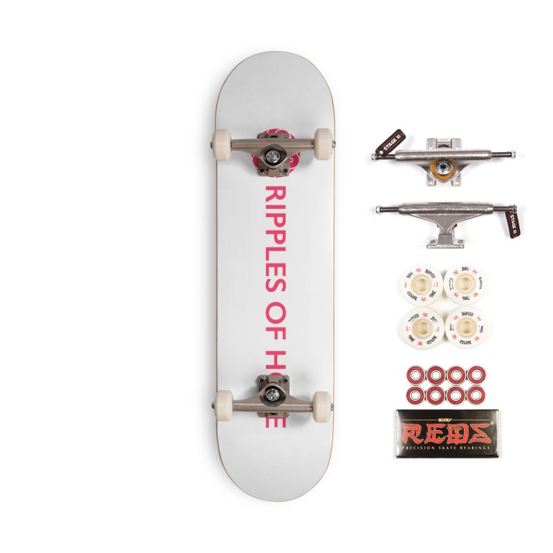 Ripples of Hope - Horizontal - Red Accessories Complete - Pro Skateboard by Ripples of Hope Swag Shop