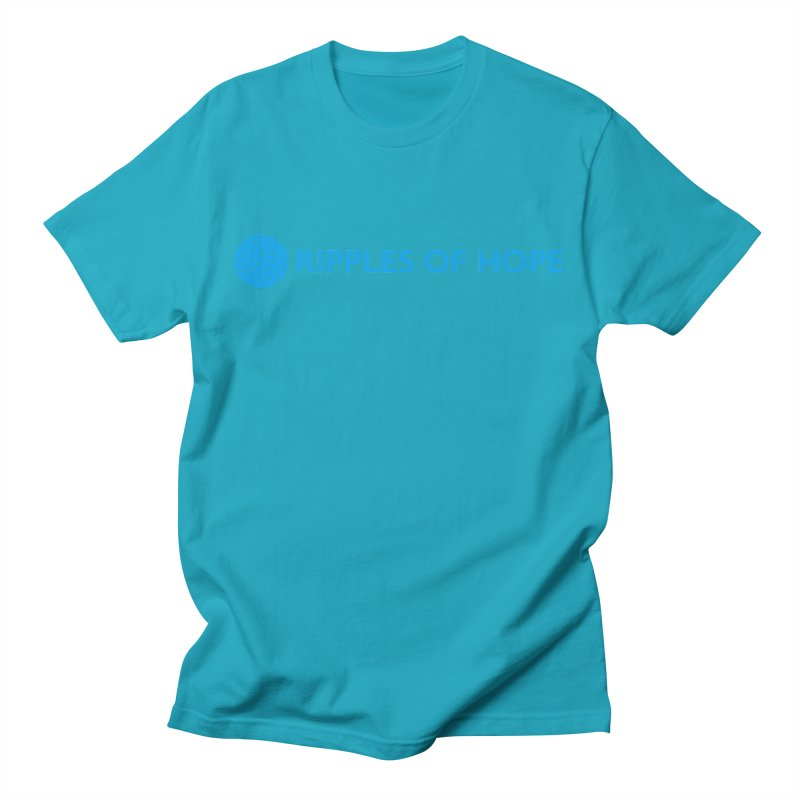 Ripples of Hope - Horizontal - Blue Men's T-Shirt by Ripples of Hope Swag Shop