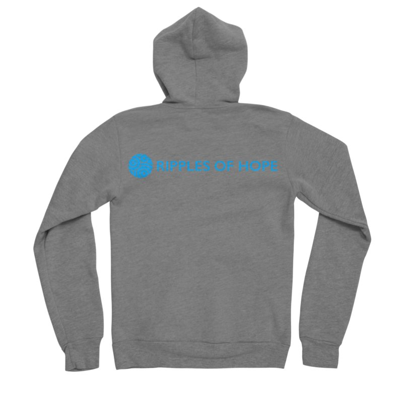 Ripples of Hope - Horizontal - Blue Women's Sponge Fleece Zip-Up Hoody by Ripples of Hope Swag Shop