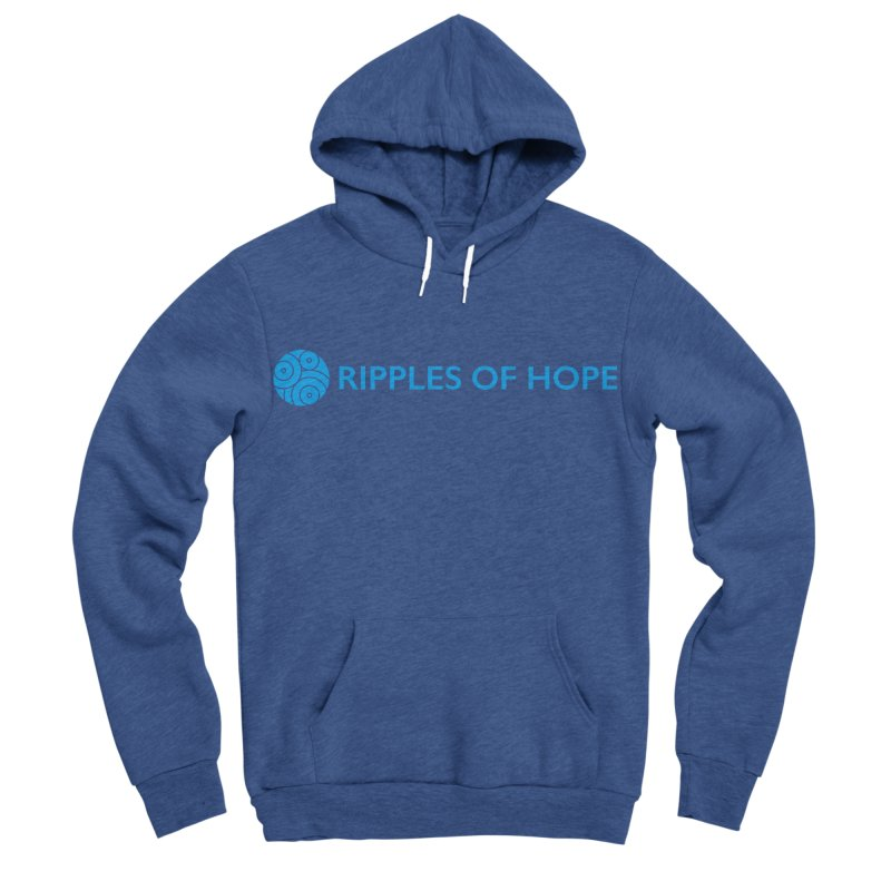 Ripples of Hope - Horizontal - Blue Men's Sponge Fleece Pullover Hoody by Ripples of Hope Swag Shop