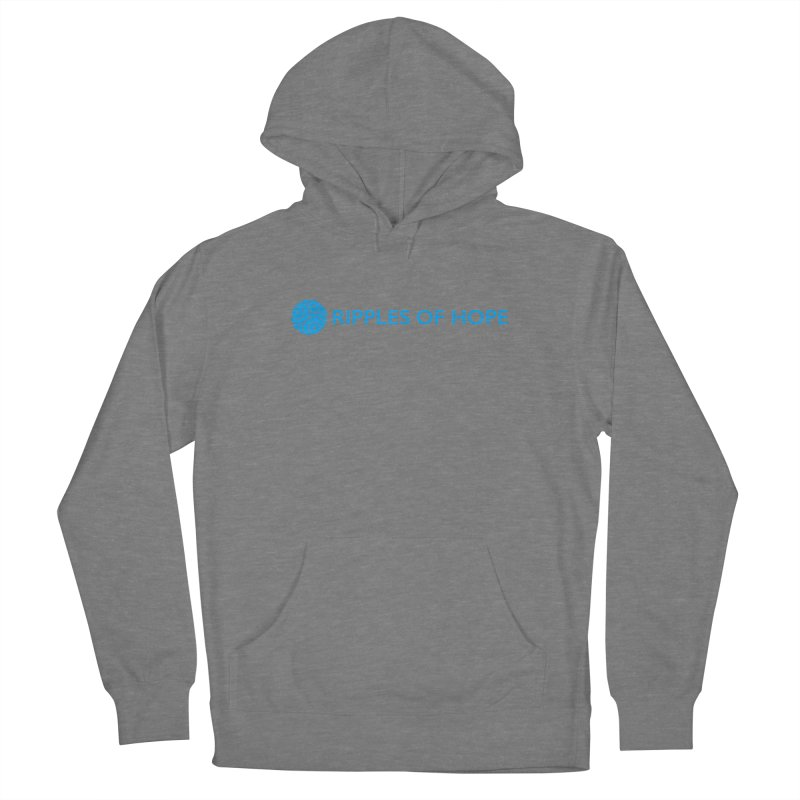 Ripples of Hope - Horizontal - Blue Men's Pullover Hoody by Ripples of Hope Swag Shop