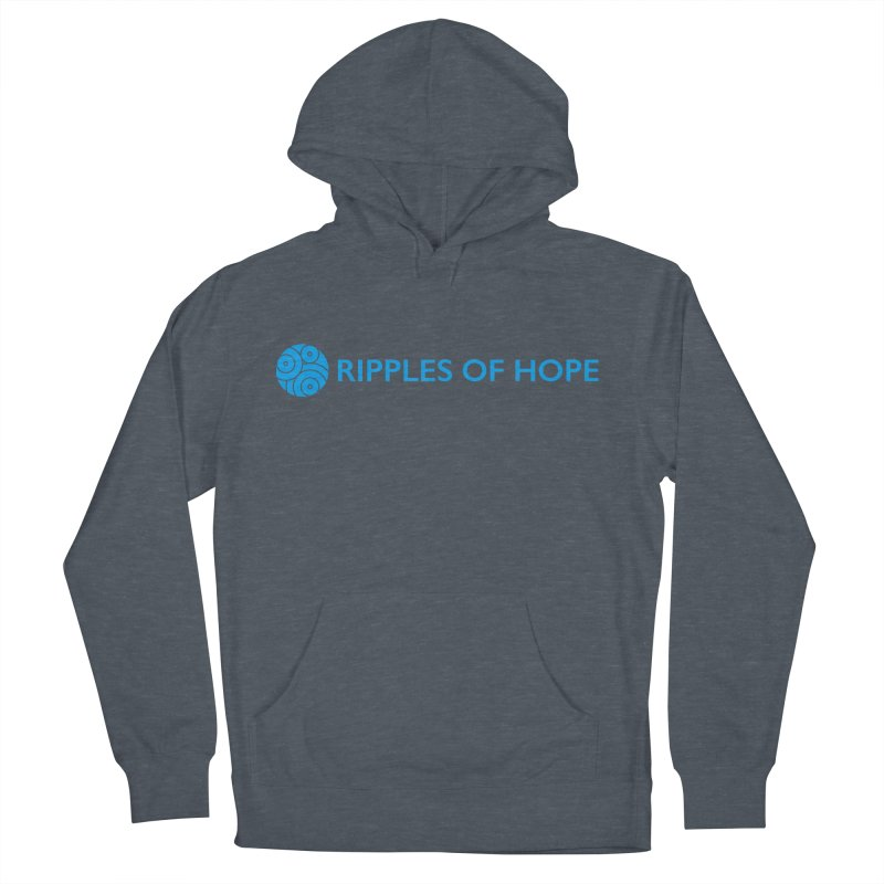 Ripples of Hope - Horizontal - Blue Women's French Terry Pullover Hoody by Ripples of Hope Swag Shop