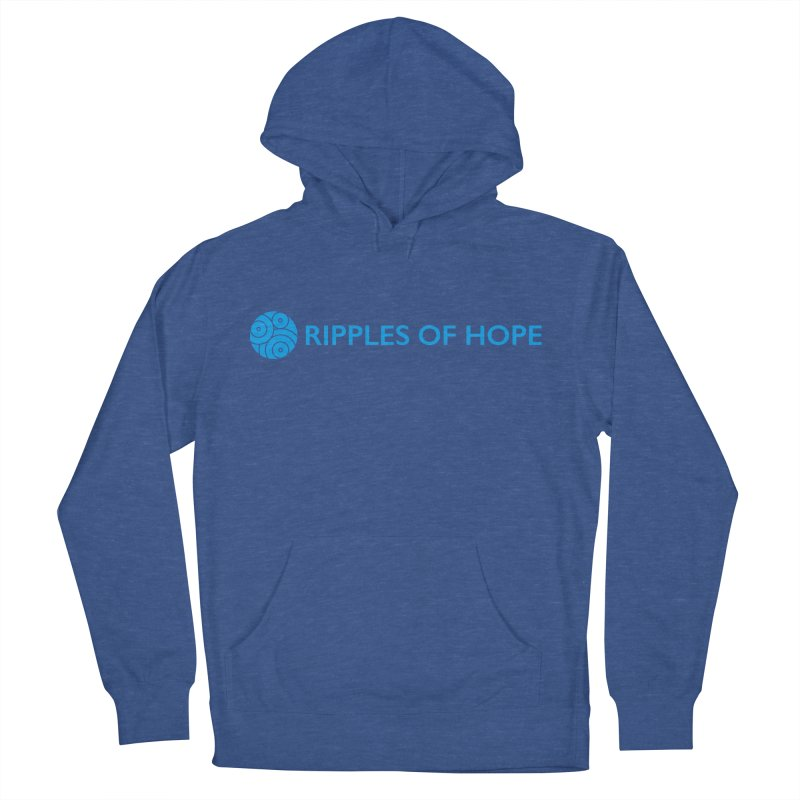 Ripples of Hope - Horizontal - Blue Men's French Terry Pullover Hoody by Ripples of Hope Swag Shop