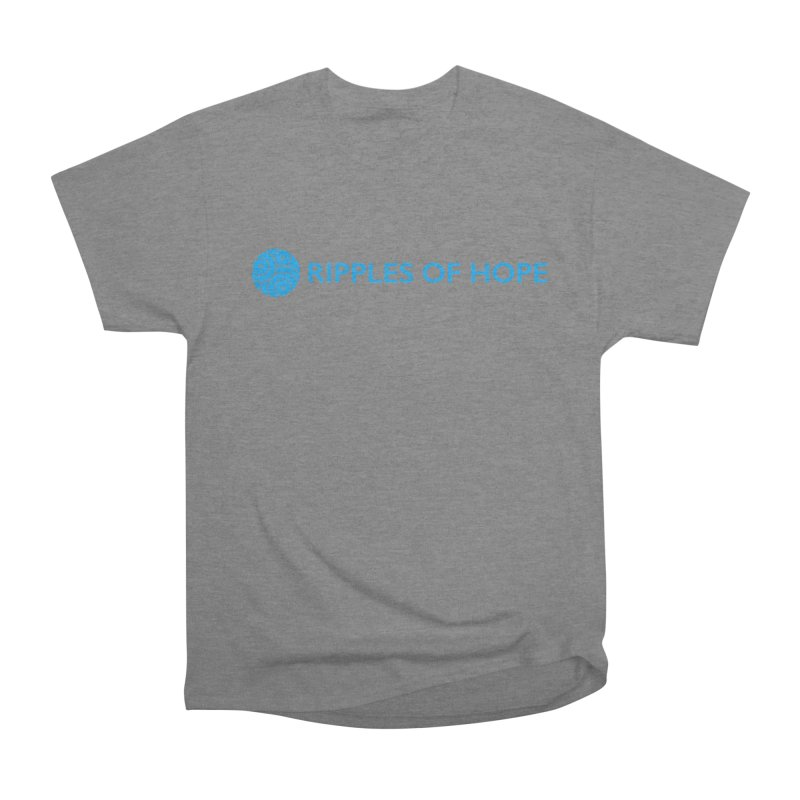 Ripples of Hope - Horizontal - Blue Women's Heavyweight Unisex T-Shirt by Ripples of Hope Swag Shop