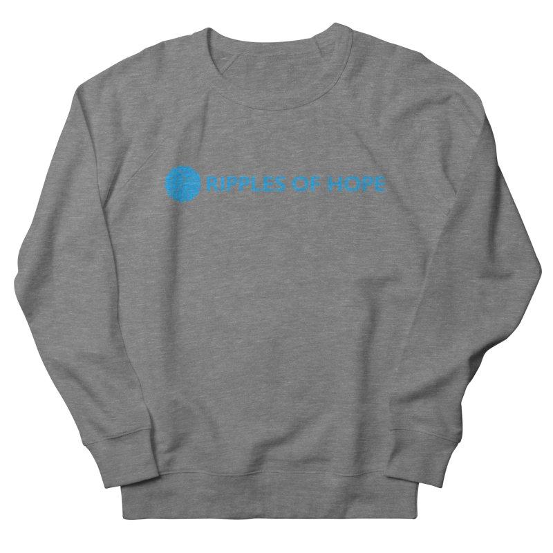 Ripples of Hope - Horizontal - Blue Women's Sweatshirt by Ripples of Hope Swag Shop