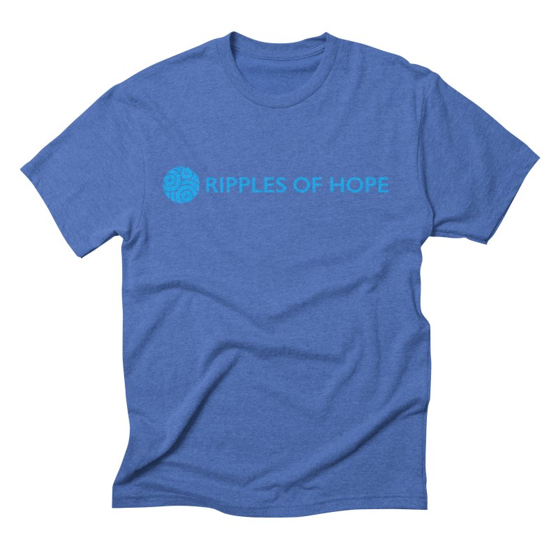 Ripples of Hope - Horizontal - Blue Men's Triblend T-Shirt by Ripples of Hope Swag Shop