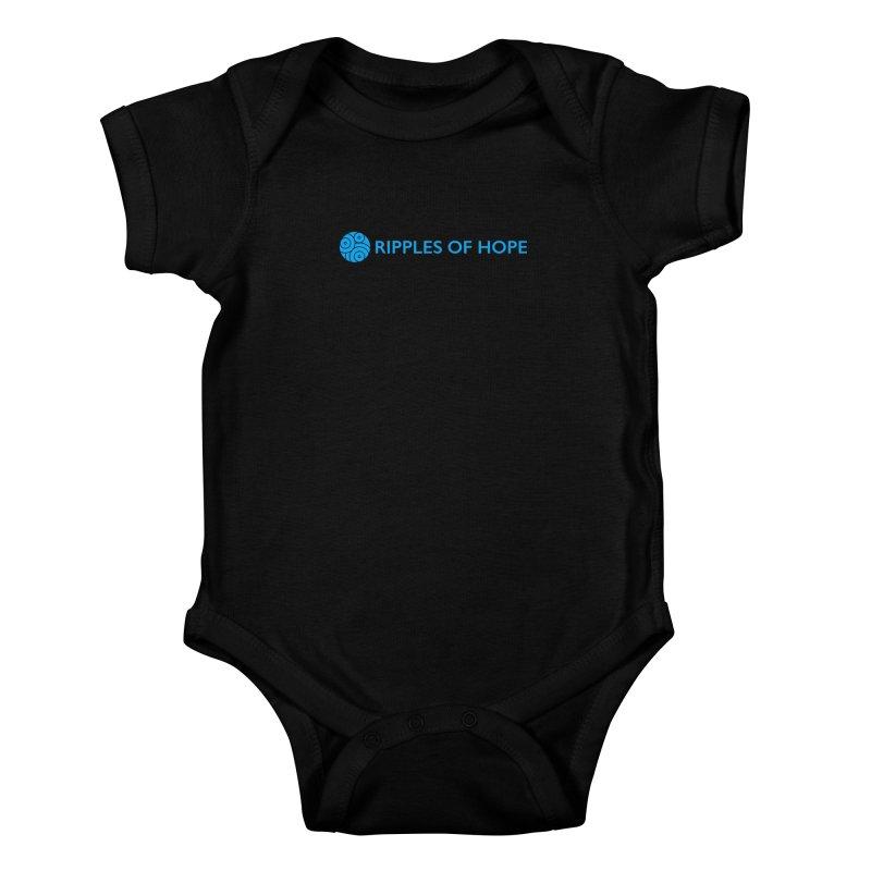 Ripples of Hope - Horizontal - Blue Kids Baby Bodysuit by Ripples of Hope Swag Shop