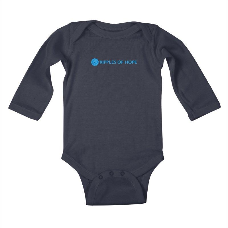 Ripples of Hope - Horizontal - Blue Kids Baby Longsleeve Bodysuit by Ripples of Hope Swag Shop