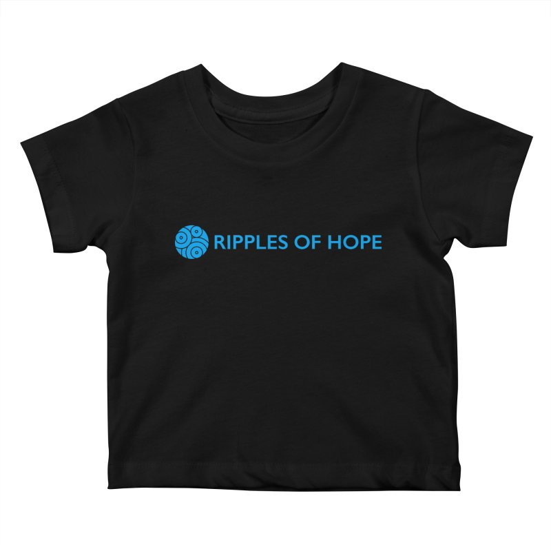 Ripples of Hope - Horizontal - Blue Kids Baby T-Shirt by Ripples of Hope Swag Shop