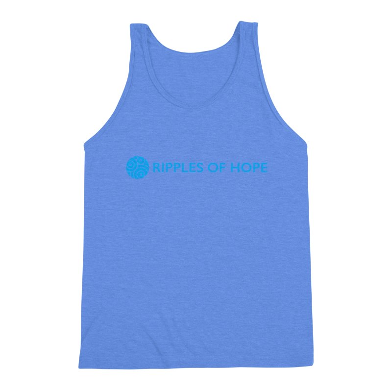 Ripples of Hope - Horizontal - Blue Men's Triblend Tank by Ripples of Hope Swag Shop