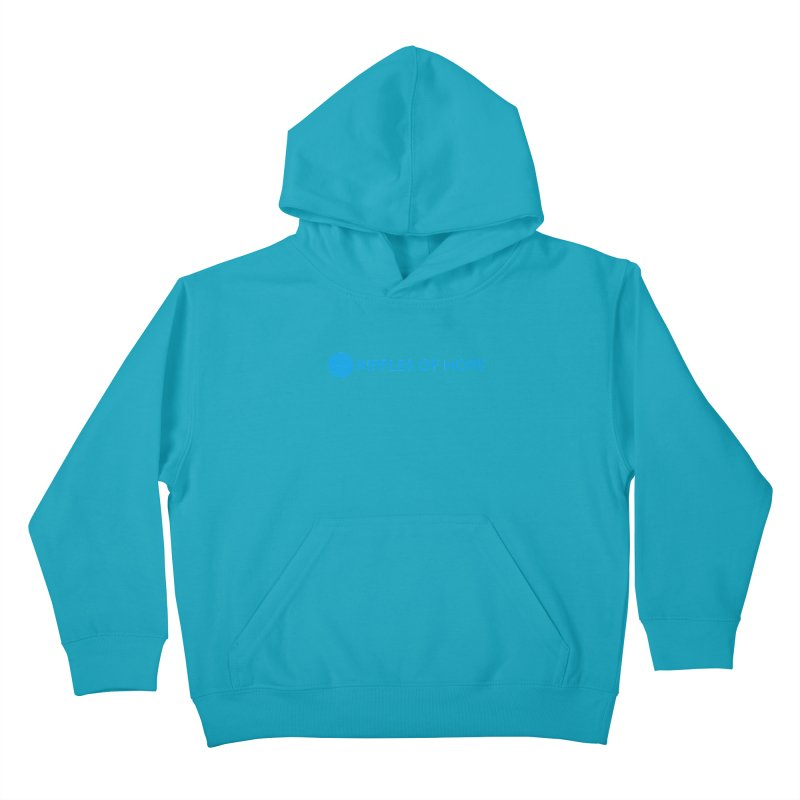 Ripples of Hope - Horizontal - Blue Kids Pullover Hoody by Ripples of Hope Swag Shop