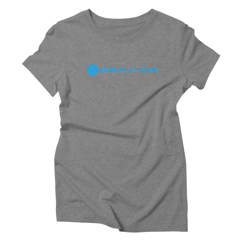 Ripples of Hope - Horizontal - Blue Women's Triblend T-Shirt by Ripples of Hope Swag Shop