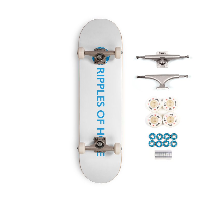 Ripples of Hope - Horizontal - Blue Accessories Complete - Premium Skateboard by Ripples of Hope Swag Shop