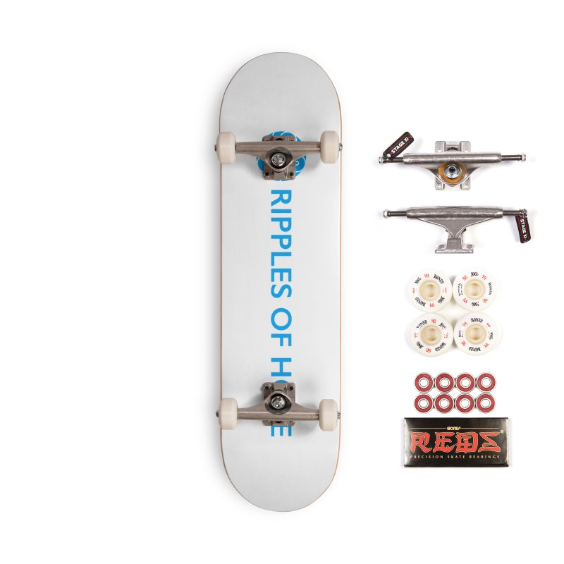 Ripples of Hope - Horizontal - Blue Accessories Complete - Pro Skateboard by Ripples of Hope Swag Shop