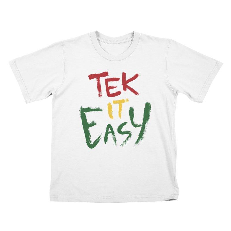 Tek It Easy Kids T-shirt by Rispek!