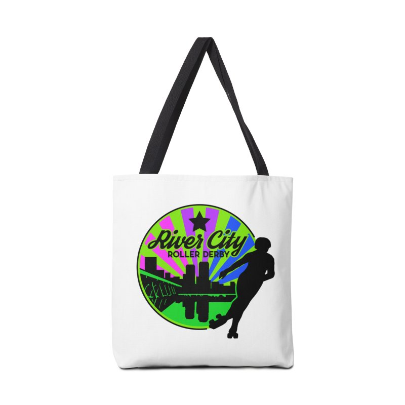 2019 Bi Pride! Accessories Tote Bag Bag by River City Roller Derby's Artist Shop