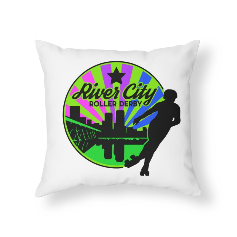 2019 Bi Pride! Home Throw Pillow by River City Roller Derby's Artist Shop