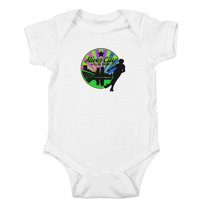 2019 Bi Pride! Kids Baby Bodysuit by River City Roller Derby's Artist Shop