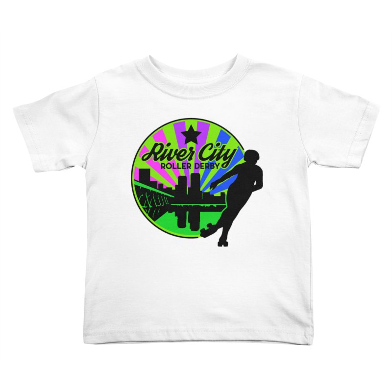 2019 Bi Pride! Kids Toddler T-Shirt by River City Roller Derby's Artist Shop