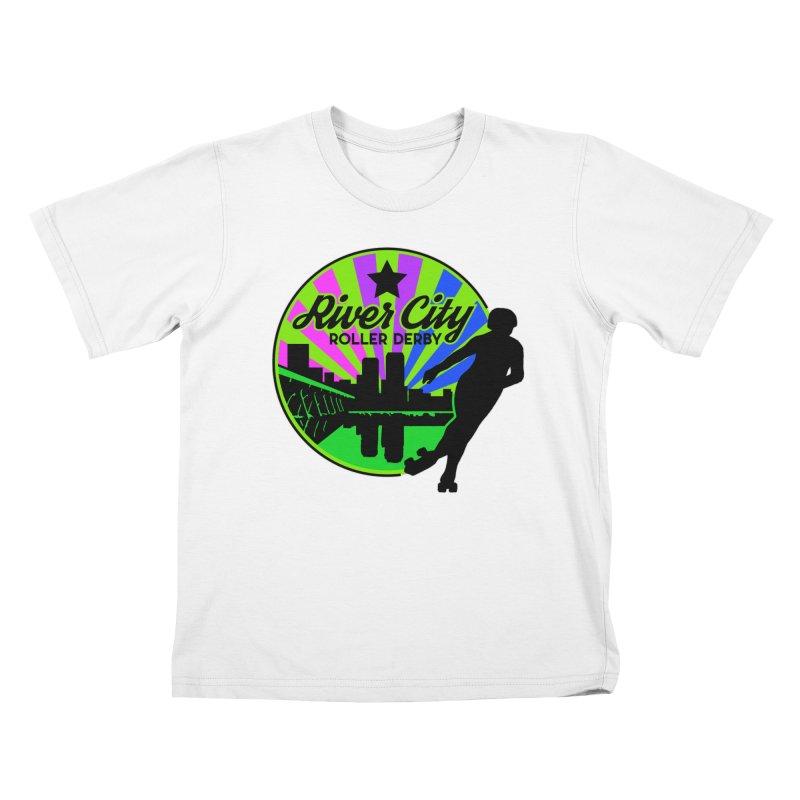 2019 Bi Pride! Kids T-Shirt by River City Roller Derby's Artist Shop