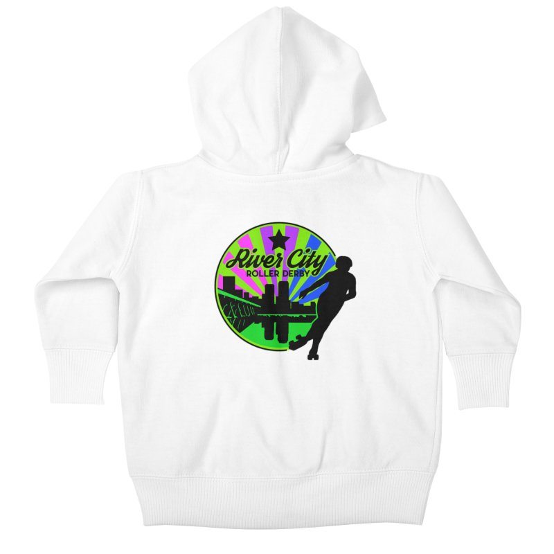 2019 Bi Pride! Kids Baby Zip-Up Hoody by River City Roller Derby's Artist Shop