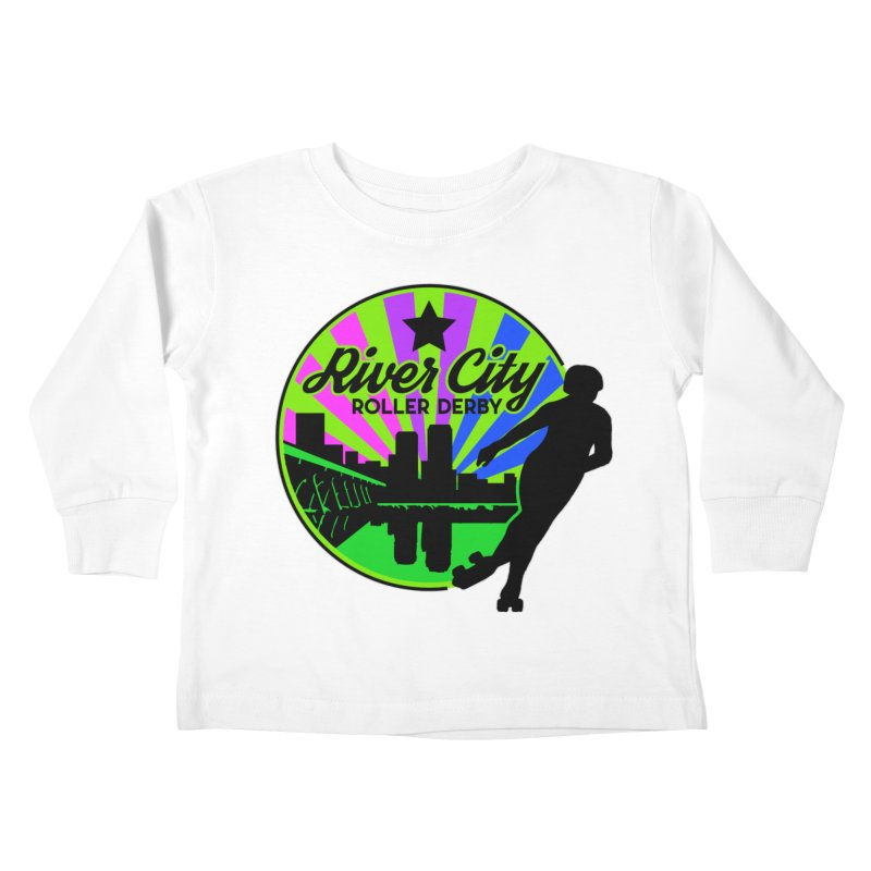 2019 Bi Pride! Kids Toddler Longsleeve T-Shirt by River City Roller Derby's Artist Shop