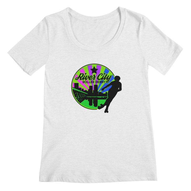 2019 Bi Pride! Women's Regular Scoop Neck by River City Roller Derby's Artist Shop