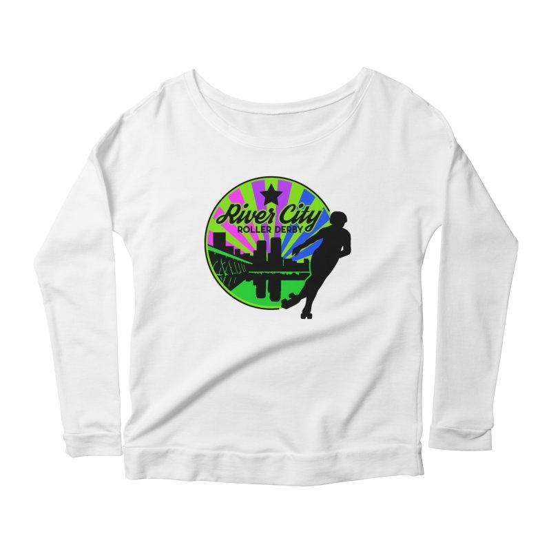 2019 Bi Pride! Women's Scoop Neck Longsleeve T-Shirt by River City Roller Derby's Artist Shop