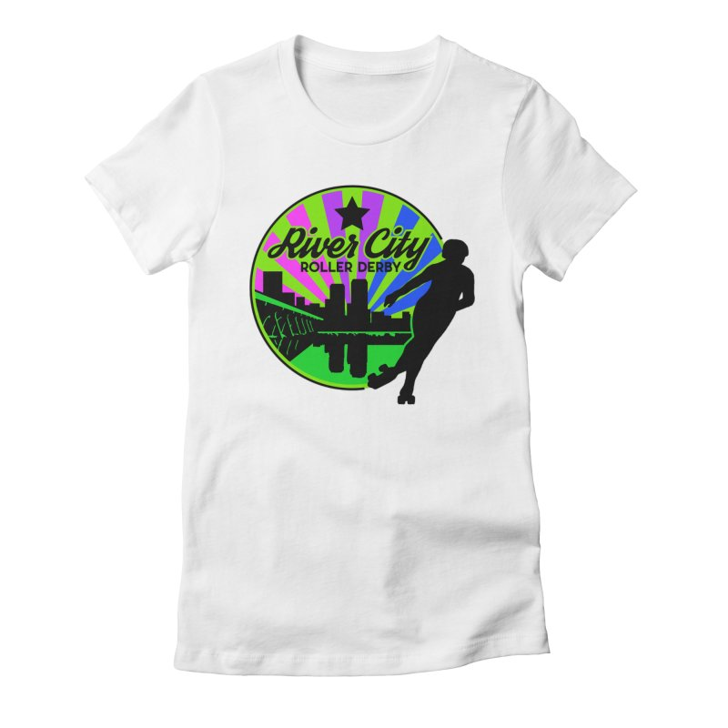 2019 Bi Pride! Women's Fitted T-Shirt by River City Roller Derby's Artist Shop