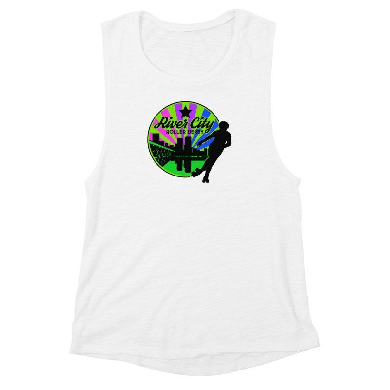2019 Bi Pride! Women's Muscle Tank by River City Roller Derby's Artist Shop