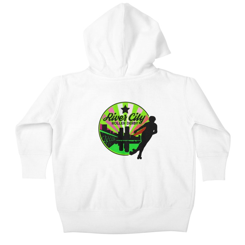 2019 Lesbian Pride! Kids Baby Zip-Up Hoody by River City Roller Derby's Artist Shop