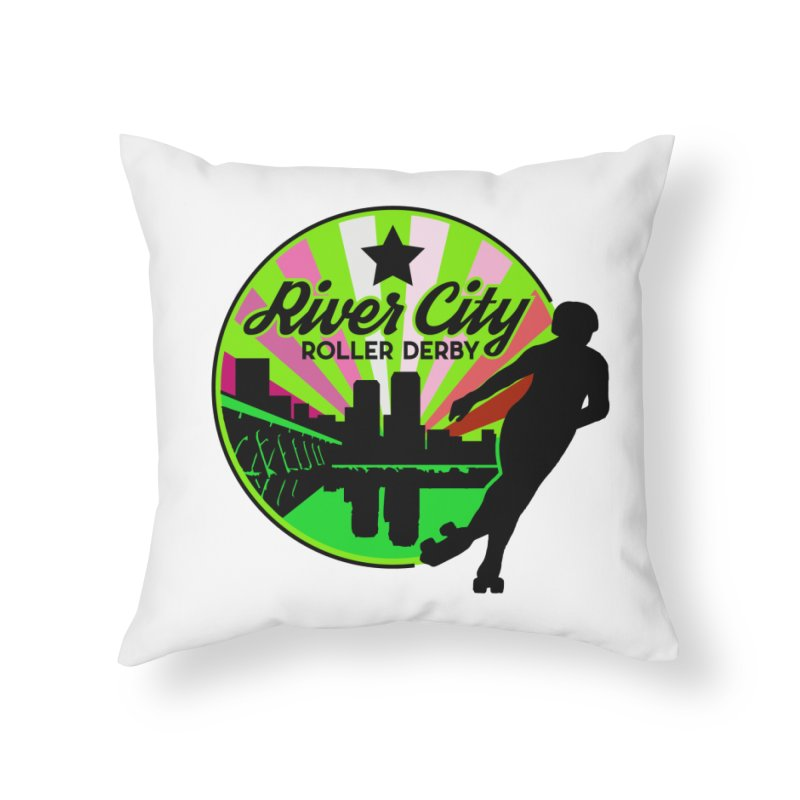 2019 Lesbian Pride! Home Throw Pillow by River City Roller Derby's Artist Shop