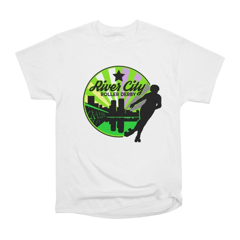 2019 Non Binary Pride! Men's Heavyweight T-Shirt by River City Roller Derby's Artist Shop
