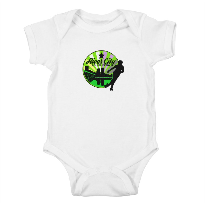 2019 Non Binary Pride! Kids Baby Bodysuit by River City Roller Derby's Artist Shop