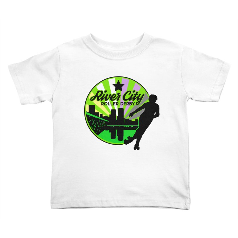 2019 Non Binary Pride! Kids Toddler T-Shirt by River City Roller Derby's Artist Shop