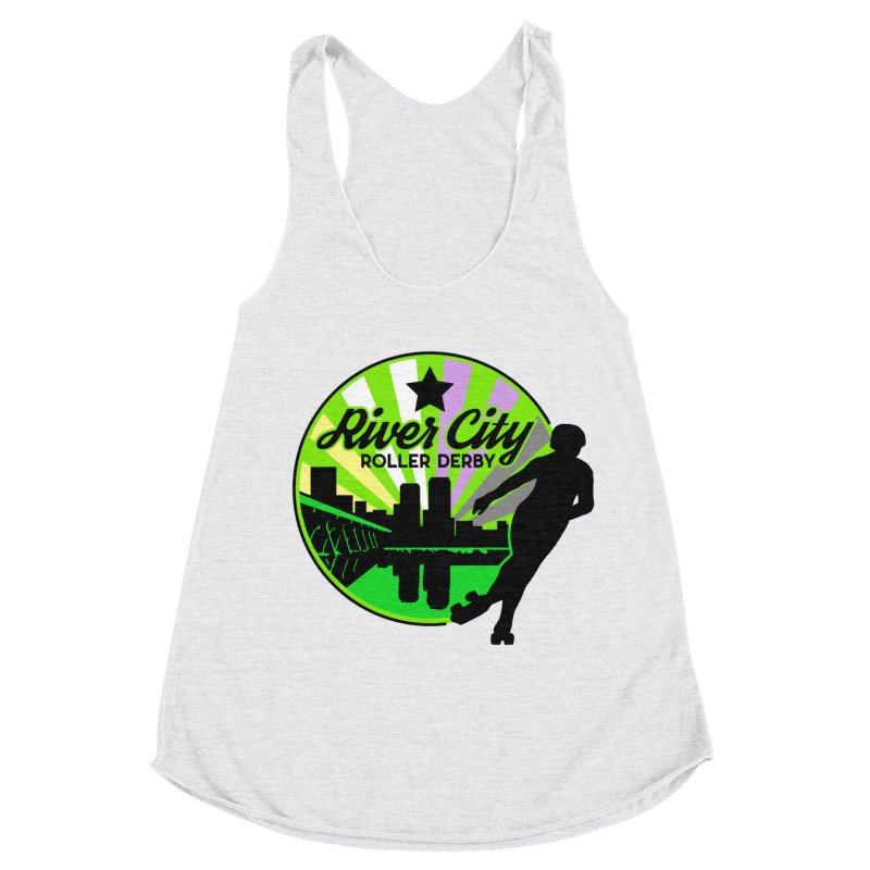 2019 Non Binary Pride! Women's Racerback Triblend Tank by River City Roller Derby's Artist Shop