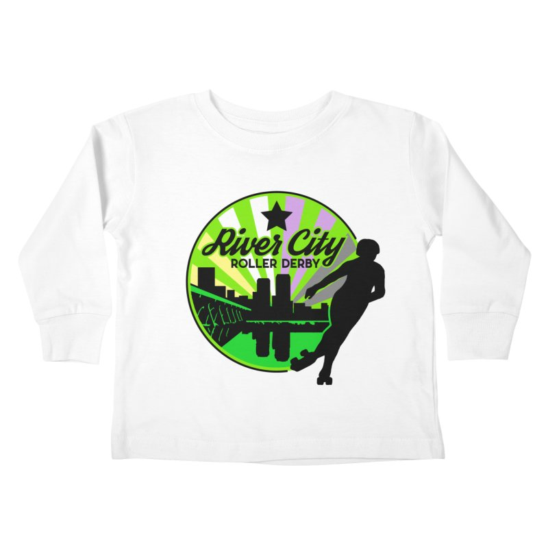 2019 Non Binary Pride! Kids Toddler Longsleeve T-Shirt by River City Roller Derby's Artist Shop