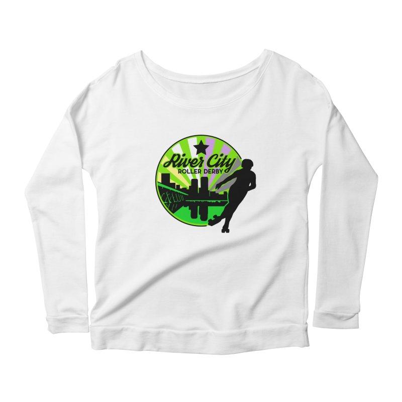 2019 Non Binary Pride! Women's Scoop Neck Longsleeve T-Shirt by River City Roller Derby's Artist Shop