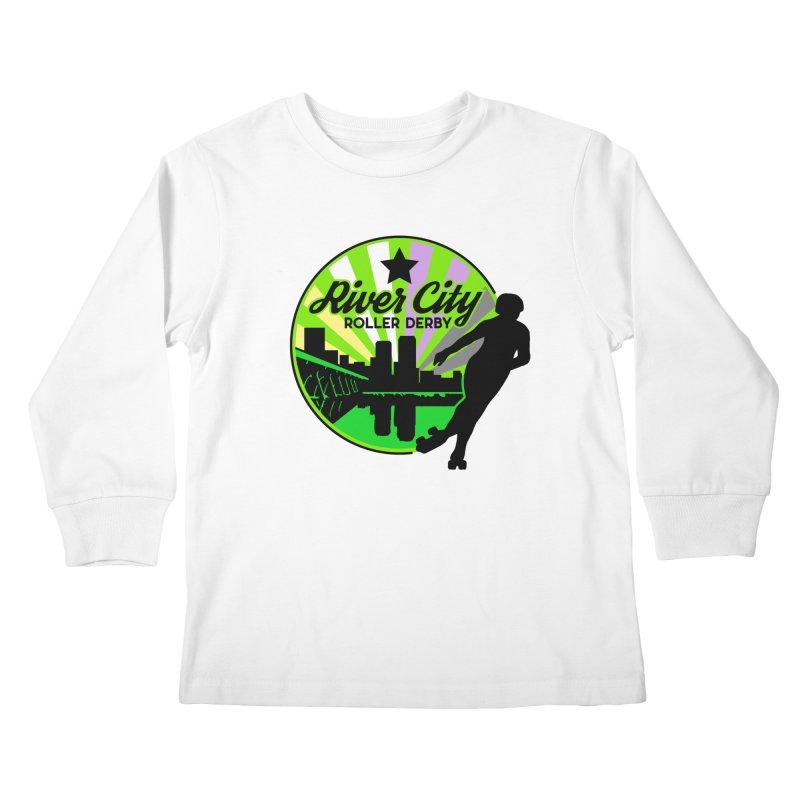 2019 Non Binary Pride! Kids Longsleeve T-Shirt by River City Roller Derby's Artist Shop