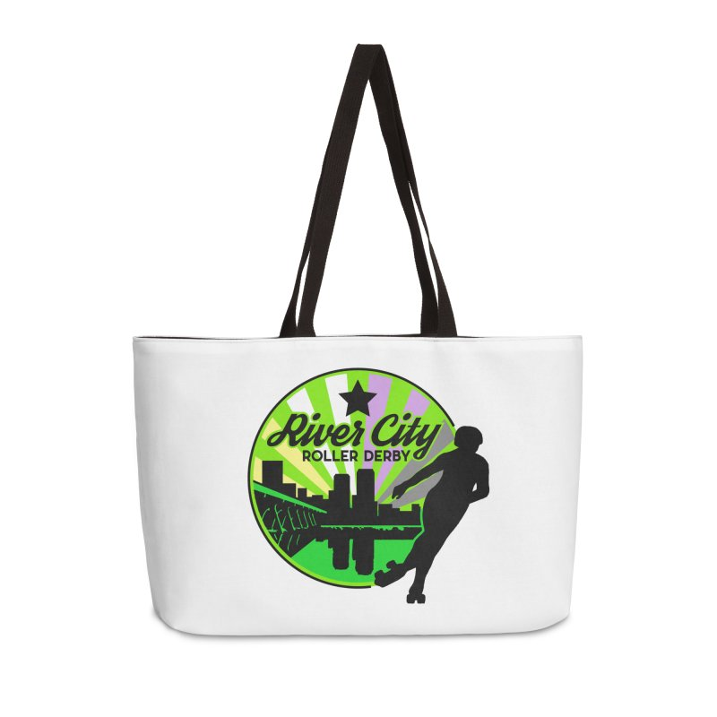 2019 Non Binary Pride! Accessories Weekender Bag Bag by River City Roller Derby's Artist Shop