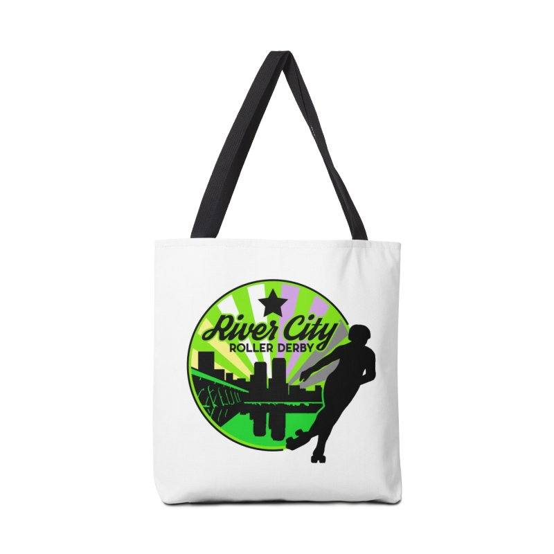 2019 Non Binary Pride! Accessories Tote Bag Bag by River City Roller Derby's Artist Shop