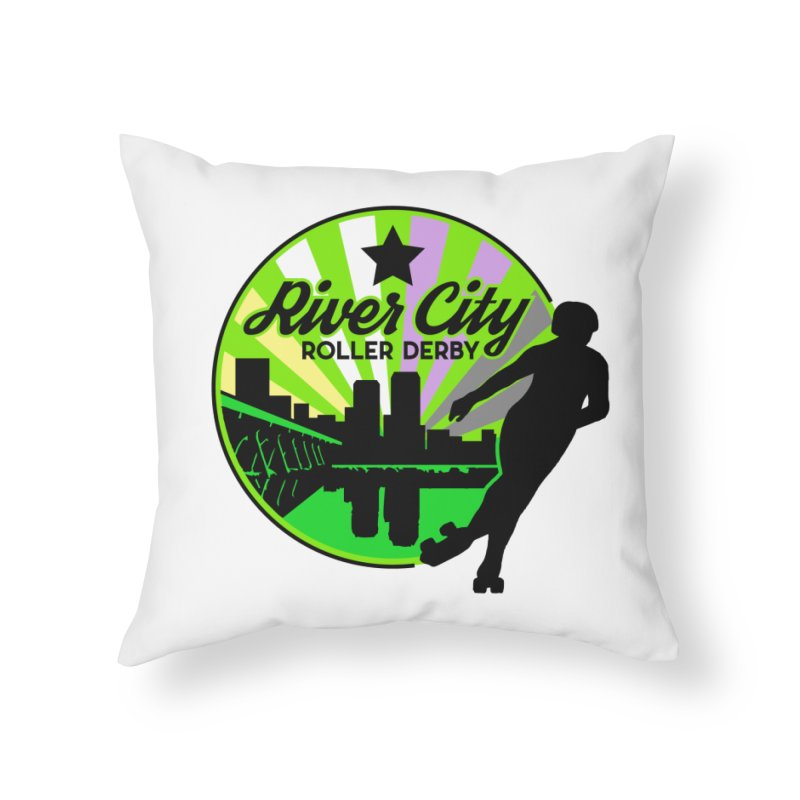 2019 Non Binary Pride! Home Throw Pillow by River City Roller Derby's Artist Shop