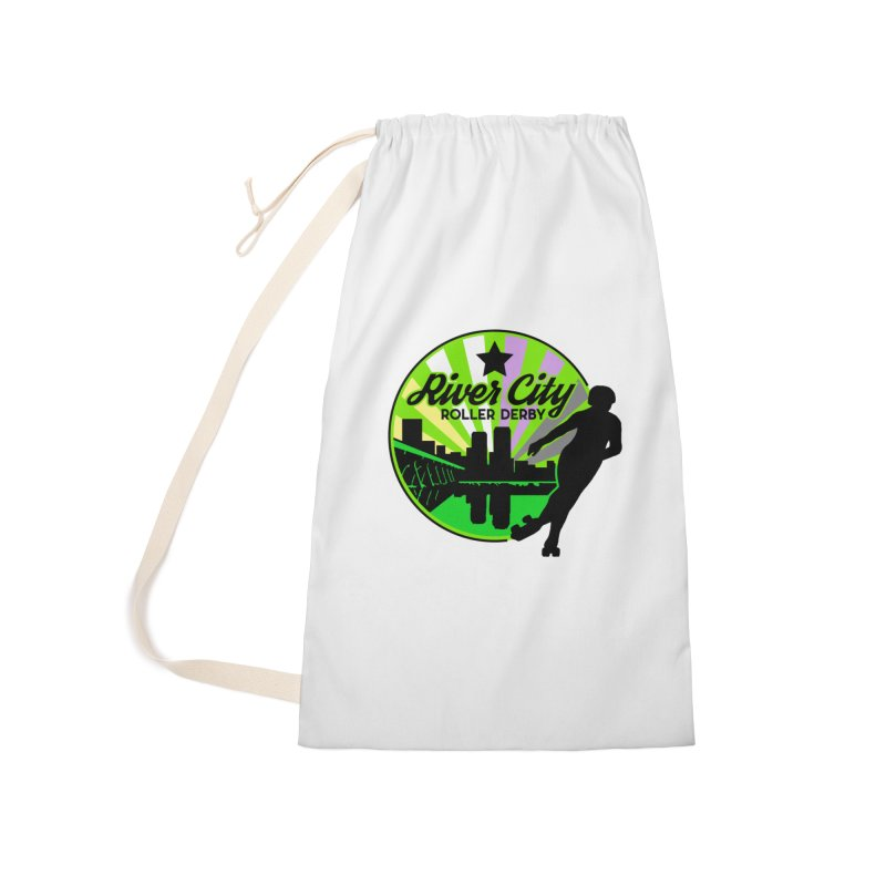 2019 Non Binary Pride! Accessories Laundry Bag Bag by River City Roller Derby's Artist Shop