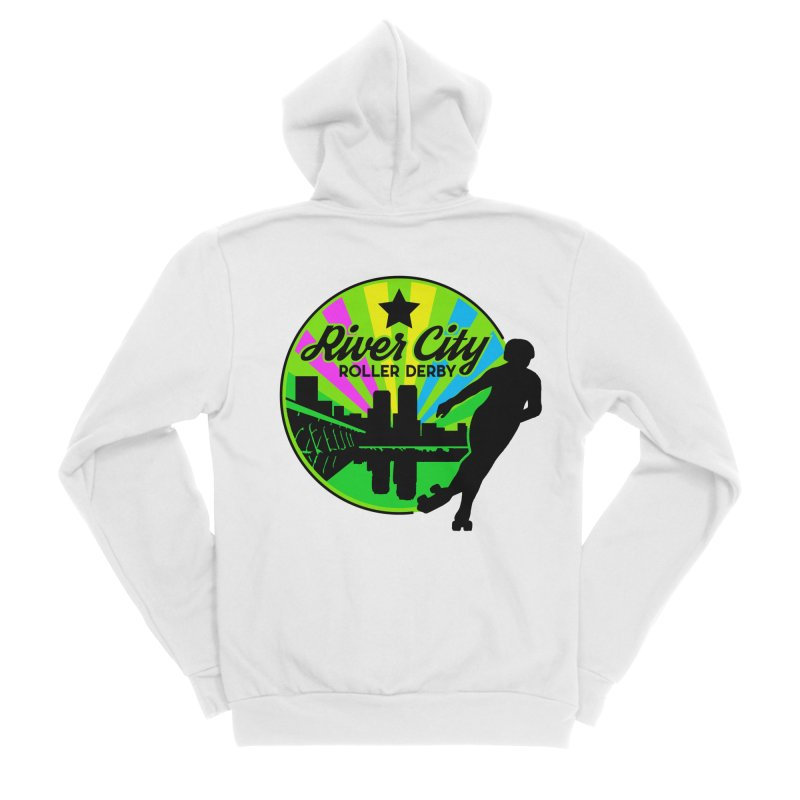 2019 Pan Pride! Women's Sponge Fleece Zip-Up Hoody by River City Roller Derby's Artist Shop
