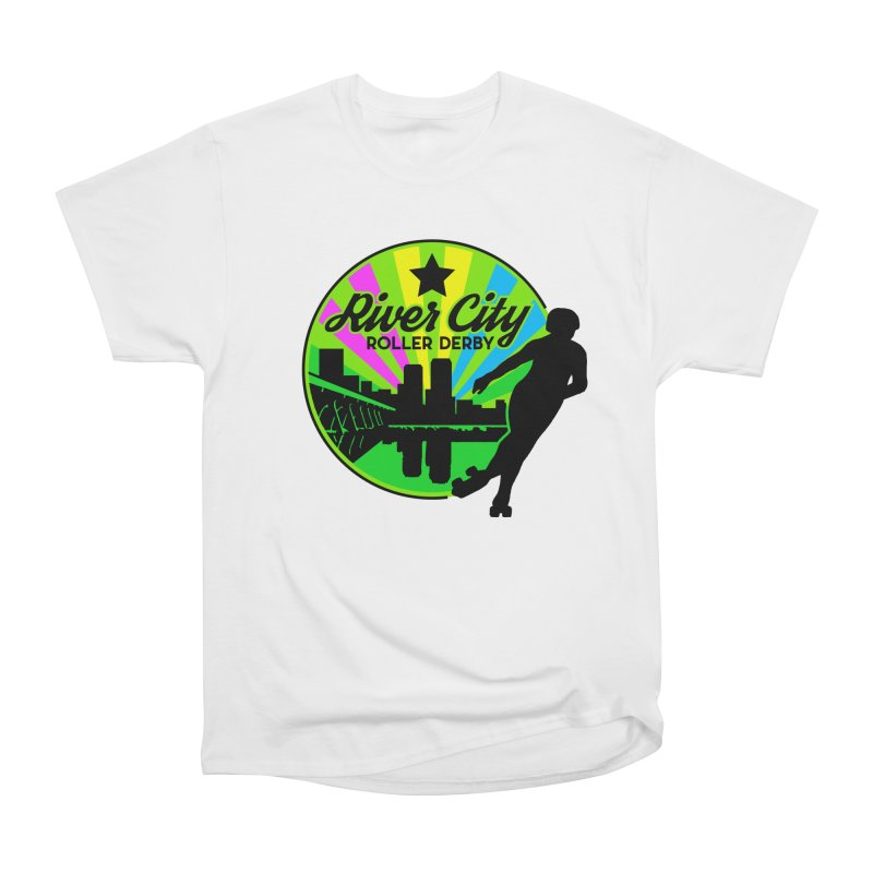 2019 Pan Pride! Women's Heavyweight Unisex T-Shirt by River City Roller Derby's Artist Shop