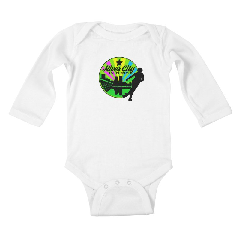 2019 Pan Pride! Kids Baby Longsleeve Bodysuit by River City Roller Derby's Artist Shop