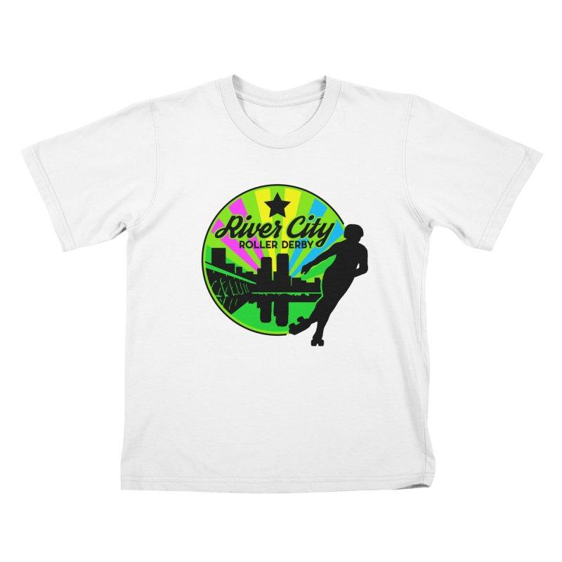 2019 Pan Pride! Kids T-Shirt by River City Roller Derby's Artist Shop