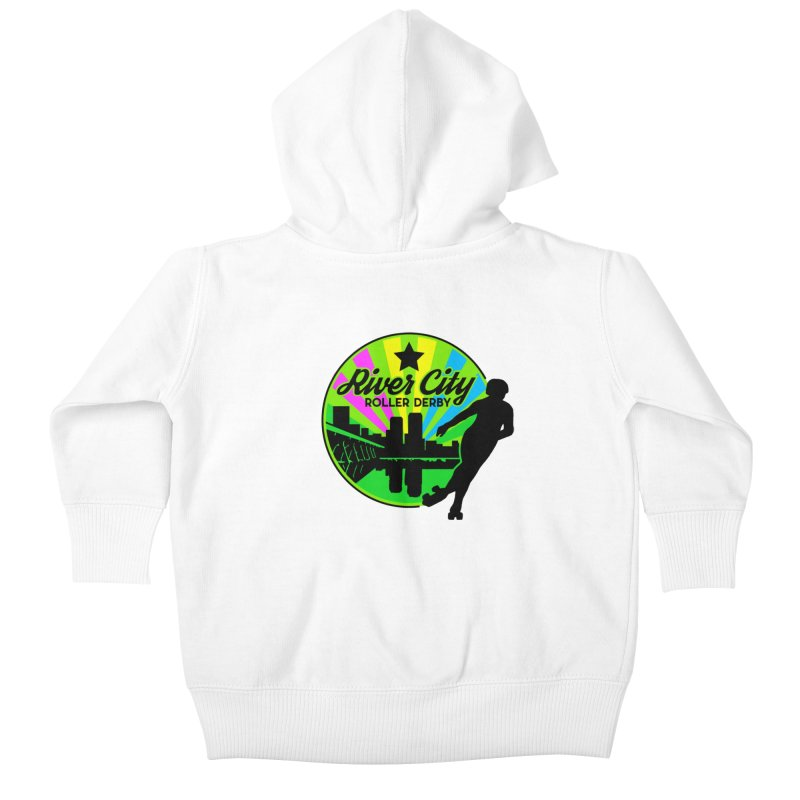 2019 Pan Pride! Kids Baby Zip-Up Hoody by River City Roller Derby's Artist Shop