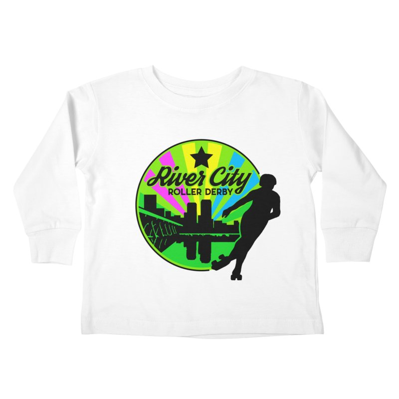 2019 Pan Pride! Kids Toddler Longsleeve T-Shirt by River City Roller Derby's Artist Shop