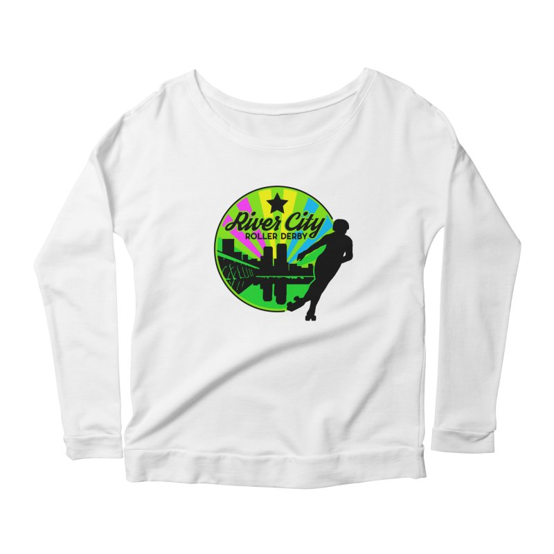 2019 Pan Pride! Women's Scoop Neck Longsleeve T-Shirt by River City Roller Derby's Artist Shop
